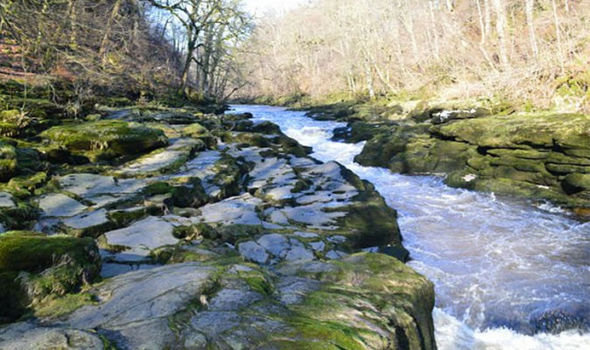 Image result for river wharfe the strid