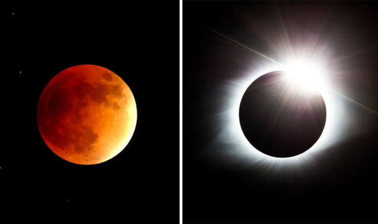 Eclipse 2018 Can You Look At Lunar Eclipse Will A Blood Moon Blind You Science News Express Co Uk