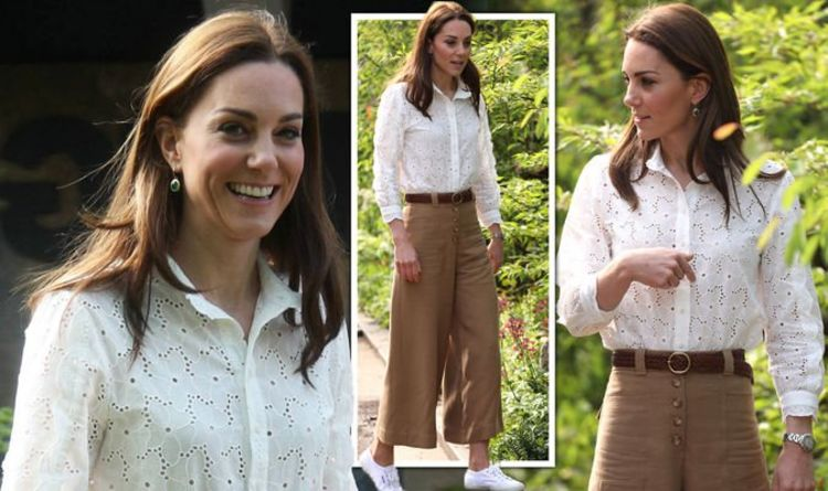 11606f5c54c7b Kate Middleton looks chic in £535 look as she arrives at Chelsea Flower  Show 2019 launch
