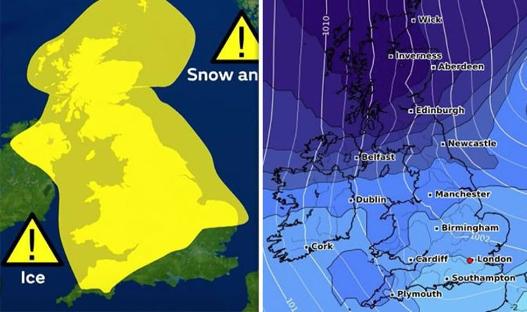 Uk Weather Forecast Met Office Predicts Snow And Ice Today