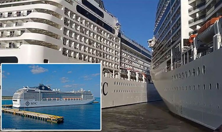 Cruise news: Shock moment two cruise ships CRASH into each other