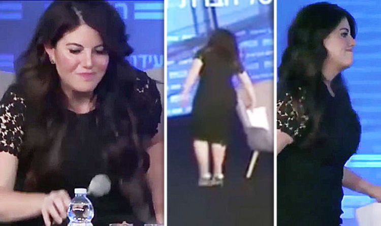 awkward-moment-monica-lewinsky-storms-off-stage-after-bill-clinton-affair-question