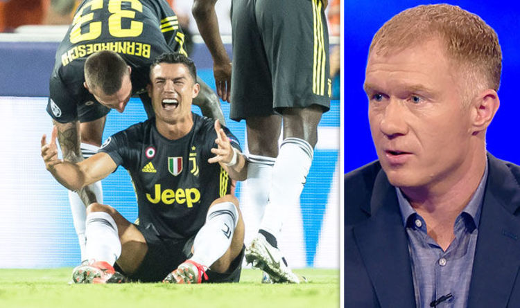 Cristiano Ronaldo  Juventus star WILL play against Man Utd despite red card  - Paul Scholes. CRISTIANO RONALDO WILL be available to ... b722a5b71