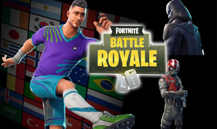 25fa23f65 Fortnite skins LEAKED  Update 4.4 reveals new World Cup outfits for Battle  Royale