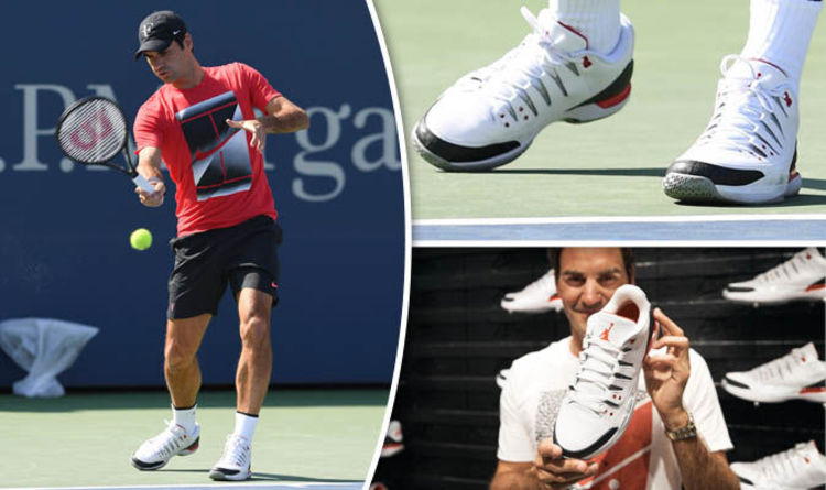 Roger Federer shows off Michael Jordan Nike trainers at US Open 2017 |  Tennis | Sport | Express.co.uk