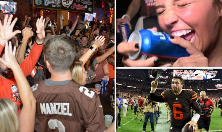 Image result for cleveland browns fans beer