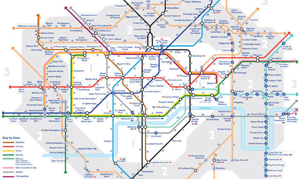 Train Map London Underground.Walking Tube Map Allows Londoners To Stroll Underground Above Ground