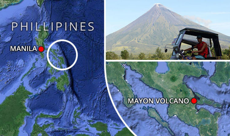 Mayon Volcano Map Where Is Mount Mayon Is It In Naga City Or - Philippines time zone map