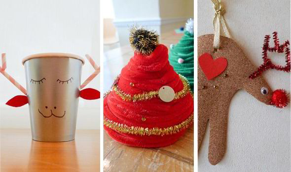 Christmas Ornament Chenille Tree And Reindeer Cup Easy Diy Festive