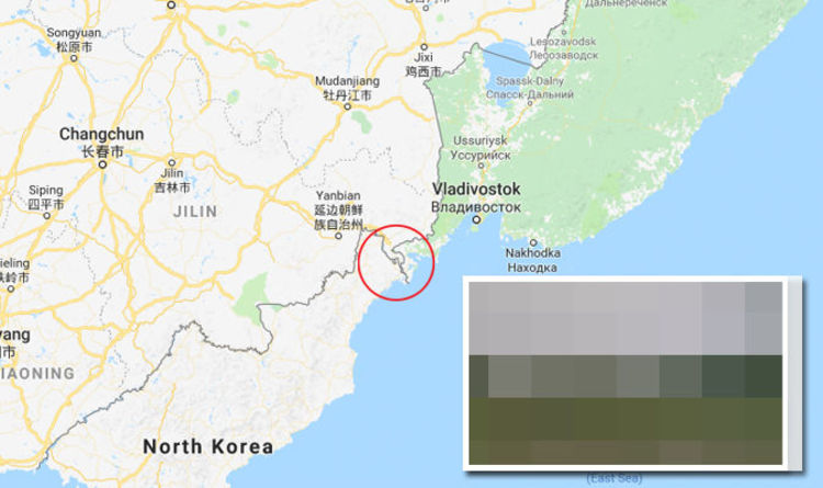 Google Maps reveals secret North Korea from Russia road ... on south korea physical map, south korea climate map, united states of america, korean war, kim jong-nam, russia north korea map, north korea china map, south africa map, qinling shandi mountains china map, united kingdom, north korea population density map, south korea country map, south korea on a map, denmark map, pyongyang north korea map, kim jong-il, roman empire map, north korea on map, north korea satellite map, world map, kim il-sung, south korea road map, kim jong-un, south korea capital map, south korea major cities map, north korea capital map, asia map,