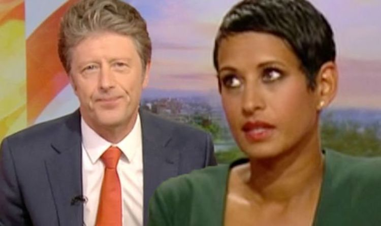 45b451727aba BBC News: 'That's mean!' Naga Munchetty scolds Charlie Stayt over cheeky  swipe