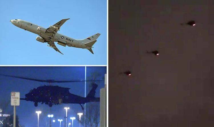 Black army helicopter 'invasion' hits LA - hours after top-secret