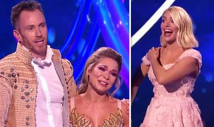 size 40 df1ed 6f913 Dancing On Ice 2019   Lovely bum  Holly Willoughby red-faced over James  Jordan admission