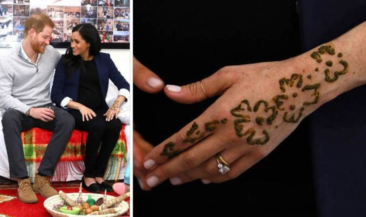 705e305db Meghan Markle in Morocco: Did Meghan COPY Kate with traditional Moroccan henna  tattoo?