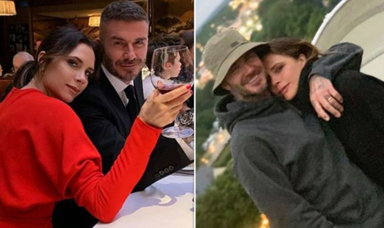 026721f90 Victoria and David Beckham spotted 'snogging and groping each other' in  rare PDA