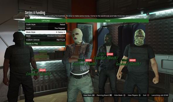 Gta  Online Heists Selection Page