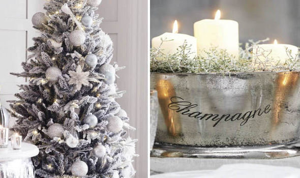 Christmas tree and candles - House Of Fraser, Sainsbury's And Homebase Bring You The Best In