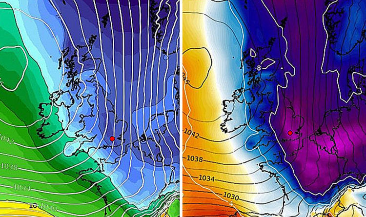 UK weather forecast: Long-range chart shows bone-chilling air hit UK ...