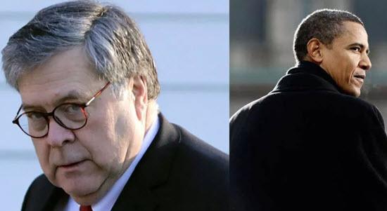 Image result for Bill Barr vs Obama