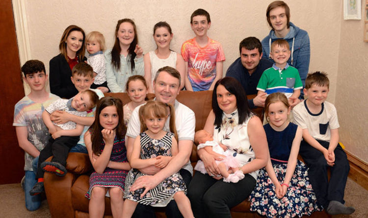 UK's largest family to welcome 21st baby | Express co uk