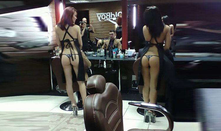 Barber shop staffed by semi-nude strippers opens - and customers are LOVING  it