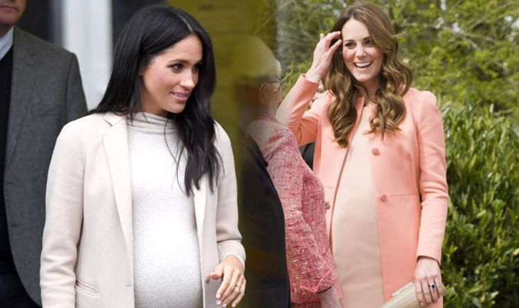 41cfc1e7b6c Meghan Markle and Kate Middleton  The one trick they ve BOTH used during  pregnancy