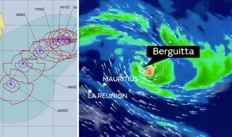 Tropical cyclone Berguitta path - track: Mauritius and Reunion ON ...
