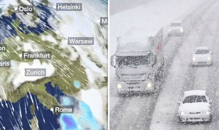 Snow Map Europe.Bbc Weather Europe Told To Prepare For More Heavy Snow This Week