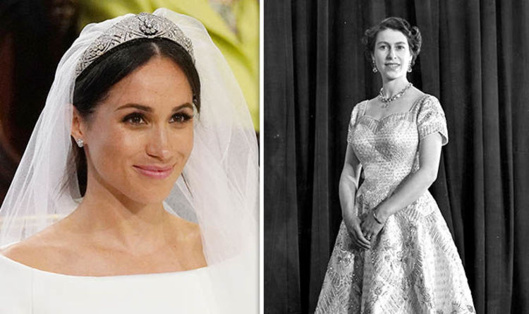 Meghan Markle news: How the Queen\'s coronation gown inspired Meghan ...