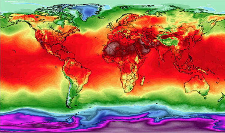 Heatwave map: WHOLE WORLD bakes as UK hits record temperatures ...