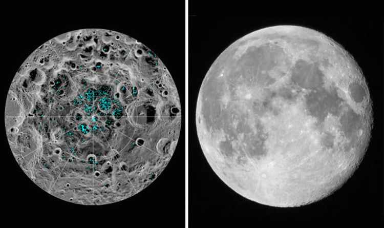 nasa news water on moon confirmed ice caps found on moon s poles