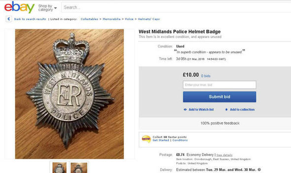 Police Officers Are Flogging Uniform And Handcuffs On Ebay Uk News Express Co Uk