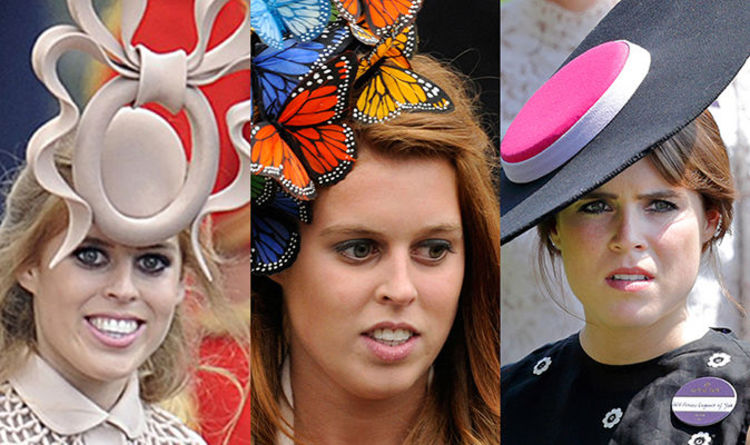 0011c2d7ec4ca Royal Wedding hats  Princess Beatrice and Eugenie most extravagant hats in  pictures