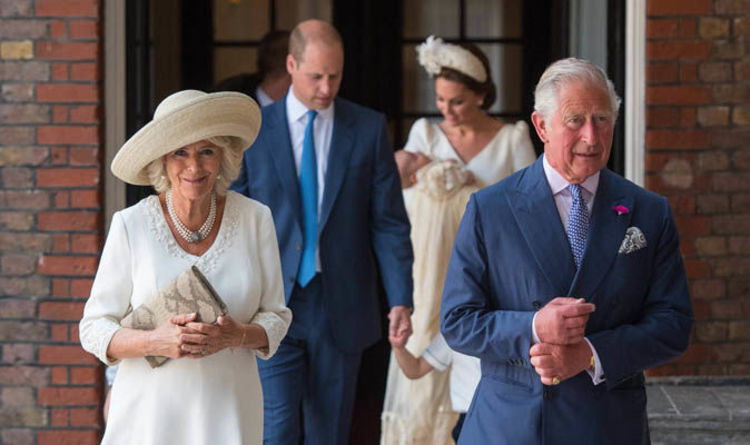 83ebfc7d010f Camilla can t cope with the heatwave as she attends Prince Louis christening  with Charles