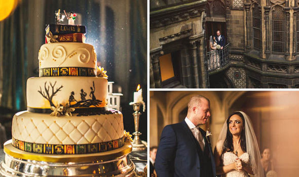 Most Magical Wedding Bride And Groom Marry In Harry Potter Themed
