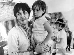 Four Year Old Julian With Paul McCartney During A Holiday In Greece 1967