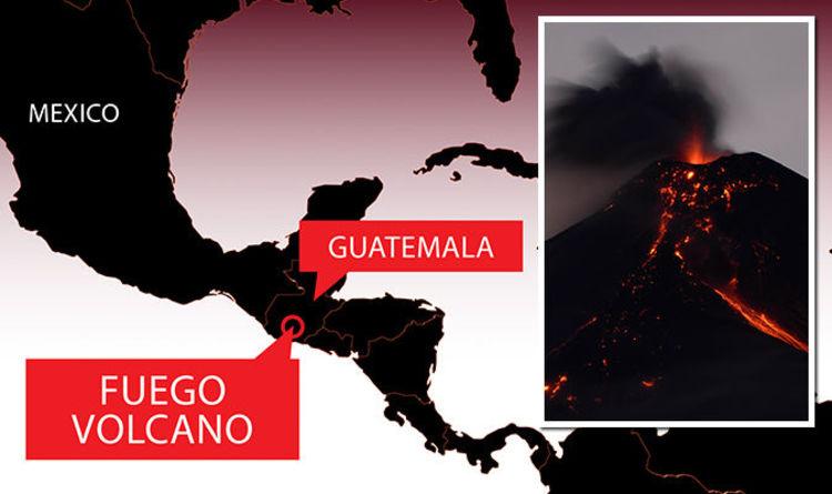 Guatemala volcano eruption MAP: Where is Fuego volcano located ...