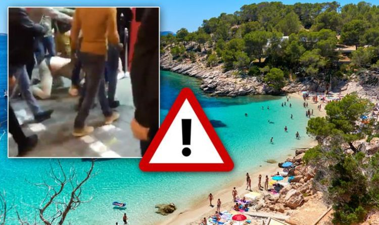 Ibiza party season kicks off with mass brawl in San Antonio - two
