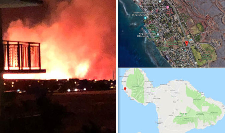 Hawaii Fire Map Where Is Kauaula Valley Fire Raging Lahaina