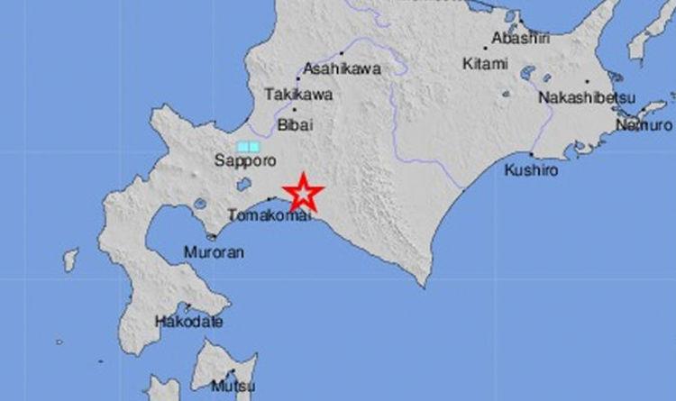 Japan Earthquake Map Today.Japan Earthquake Hits Tomakomai In Hokkaido In Ring Of Fire As