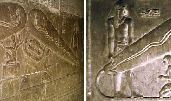 Rare Hieroglyphs Showing Egyptians With Electrical Light Bulbs Are