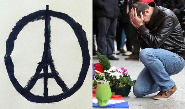 Paris Terror Attacks Eiffel Tower Peace Symbol Goes Viral World