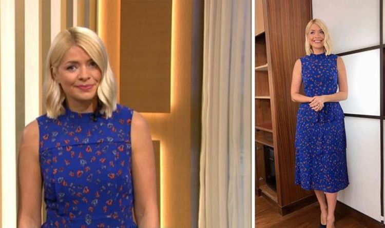 990009f9a6cf9 Holly Willoughby wows in bright blue dress to present This Morning - where  to buy her look