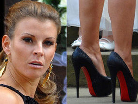 53be93e72f9d Coleen Rooney totters along to family wedding in skyscraper heels ...