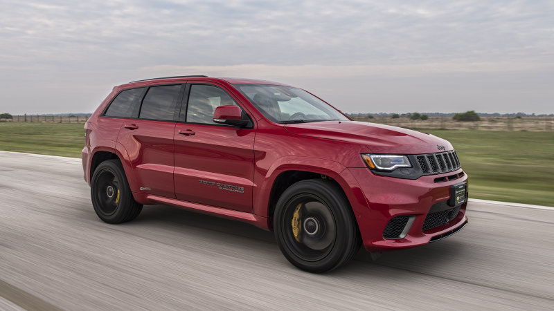 2019 Hennessey Jeep Grand Cherokee Trackhawk HPE1000 driving ...