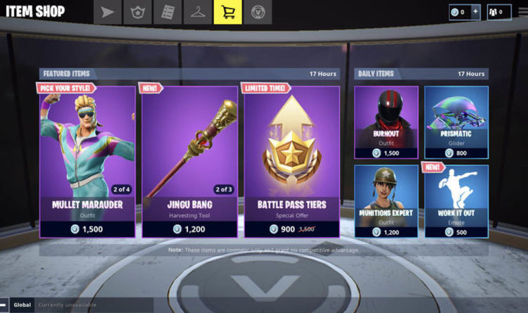 fortnite item shop update what skins are selling in the item shop for august 13 - mary marauders fortnite