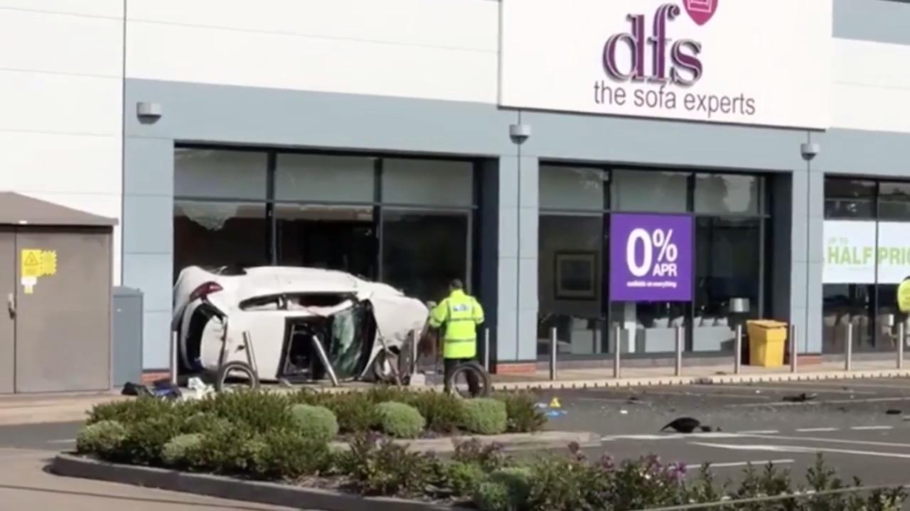 West Midlands: Car crash following police pursuit in Cannock