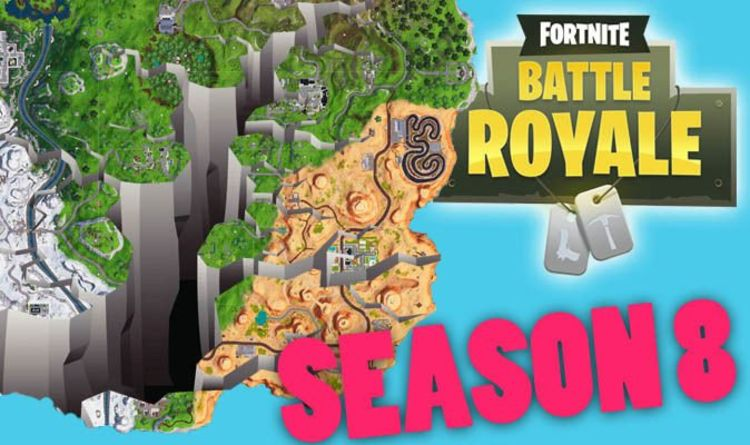fortnite season 8 map another new location leaks map to get destroyed on release date gaming entertainment express co uk - when is the new fortnite season coming out