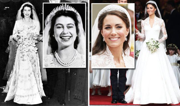 Queen Elizabeth S Wedding Dress Value Vs Kate Middleton S Gown