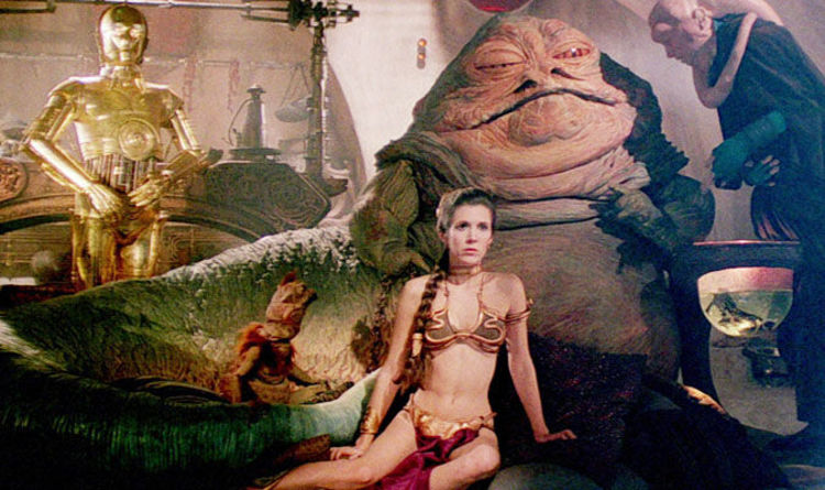 Jabba and leia make love